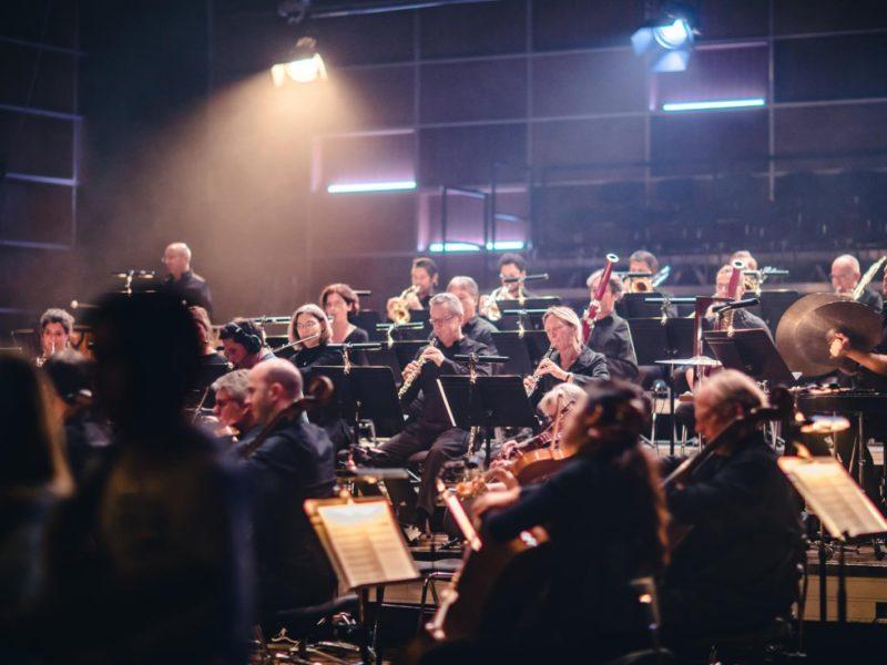 Impressionen vom Videodreh des Jubiläumssongs am 18.10.2018 im Studio 1 des Funkhauses des Bayerischen Rundfunks mit dem Münchner Rundfunkorchester © Fabian Stoffers