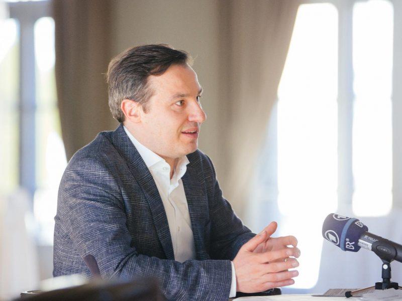Interview mit dem neuen Chefdirigenten des Rundfunkorchesters Ivan Repušić im Gartensaal des Prinzregententheaters (C) Lisa Hinder