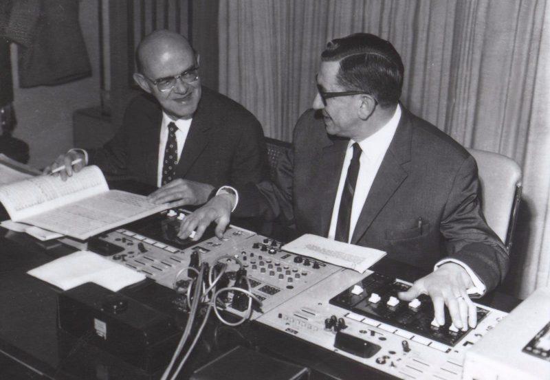 Tontechniker bei der Arbeit 1967 (c) BR/Fred Lindinger