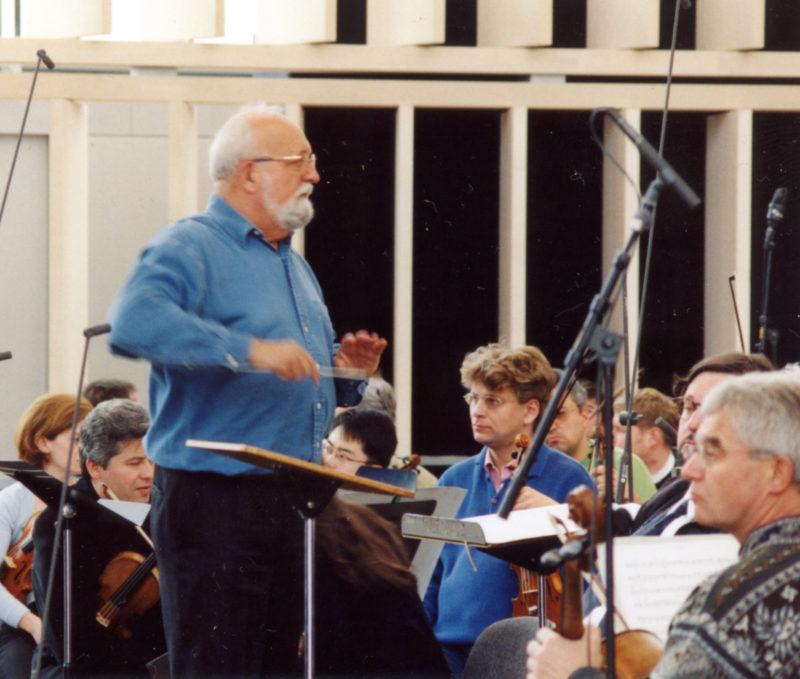 Probe zur Konzertreihe Paradisi gloria unter der Leitung von Krzysztof Penderecki, 2001 (C) Alexander Heinzel