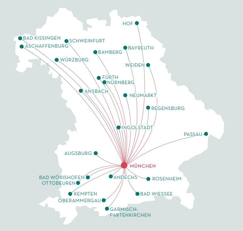 Infografik Reisen Bayern