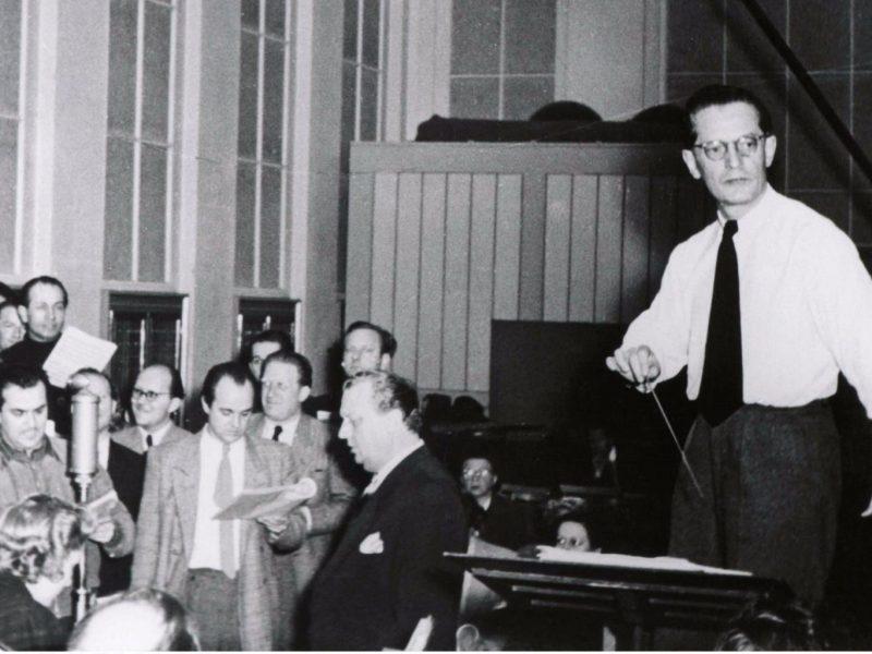 Werner Schmidt-Boelcke (Chefdirigent des Münchner Rundfunkorchesters 1952-1967). Credit BR/Hans Grimm