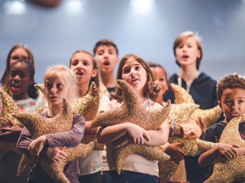 Impressionen vom Videodreh des BAYERN 3-Weihnachtssongs am 18.10.2018 im Studio 1 des Funkhauses des Bayerischen Rundfunks Kindern der Musikakademie Sarré © Fabian Stoffers