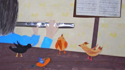 Der Zaunkönig und die silberne Flöte © Grundschule Wolfersdorf