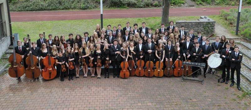 Symphonieorchester des humanistisch-musischen Gymnasiums bei St. Stephan in Augsburg (c) Siegfried Kerpf