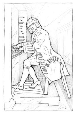 Ausmaldbild Bach © Antonia Schwarz nach Edouard Hamman