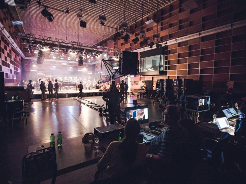 Impressionen vom Videodreh des Jubiläumssongs am 18.10.2018 im Studio 1 des Funkhauses des Bayerischen Rundfunks © Fabian Stoffers