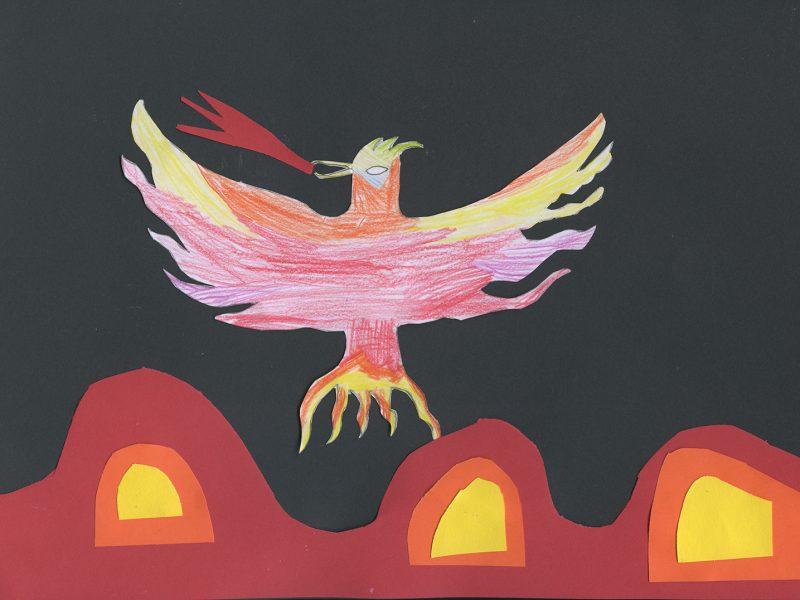 Der Feuervogel. Bild von Benjamin, Grundschule Weyarn
