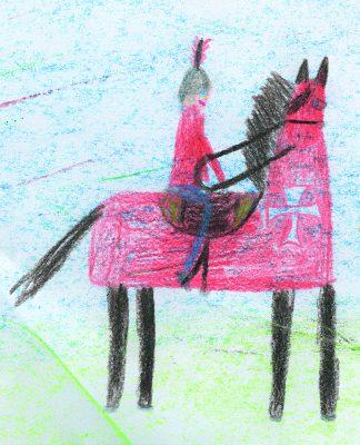 Zeichnung von Nicole Wertheim, 8 Jahre (Freie Schule Glonntal),