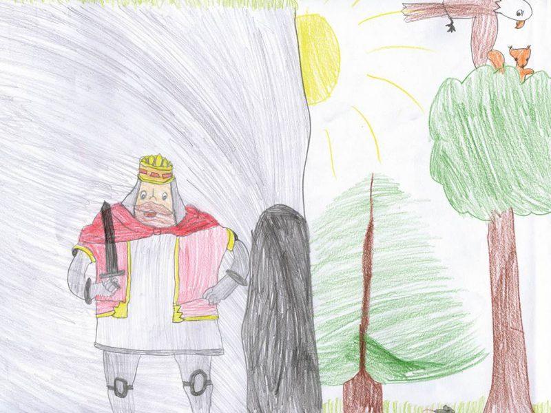 Zeichnung von Gitta Ferenczi, 7 Jahre (München)