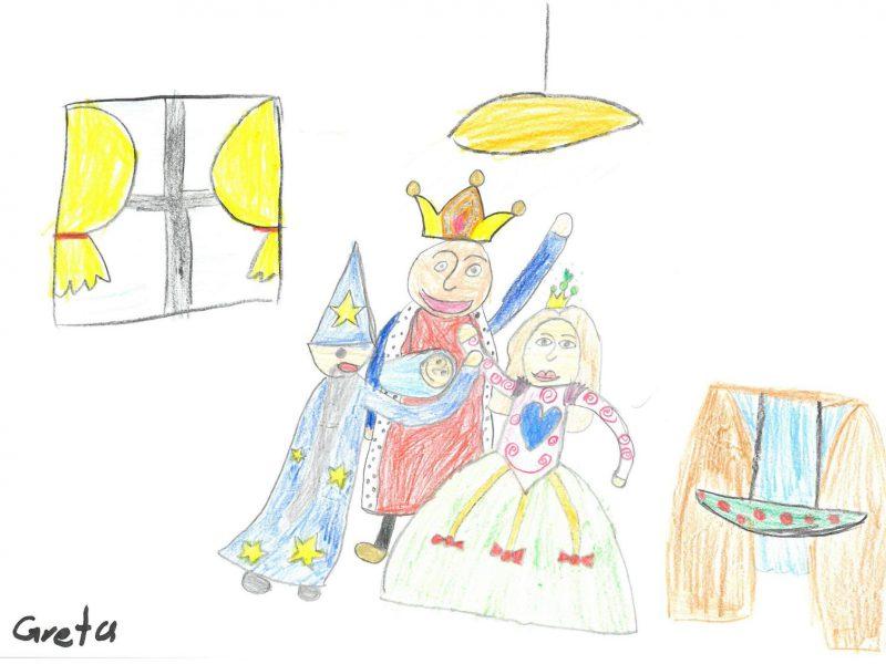 Zeichnung von Greta, 8 Jahre (Montessori-Schule Dachau)