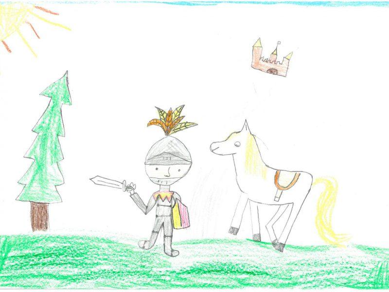 Zeichnung von Linda Pahm (Regina-Ullmann-Schule München), Klasse 2b