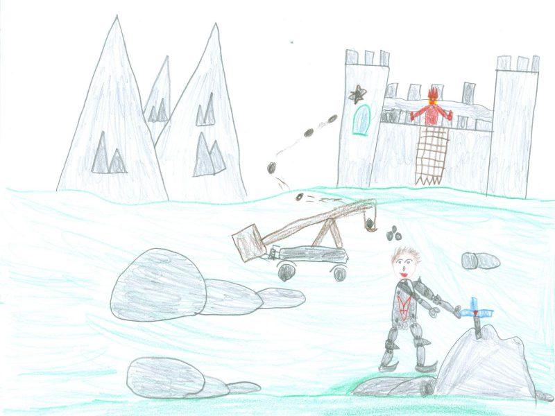 Zeichnung von Andreas Zwickl (Grundschule Weyarn), Klasse 3b