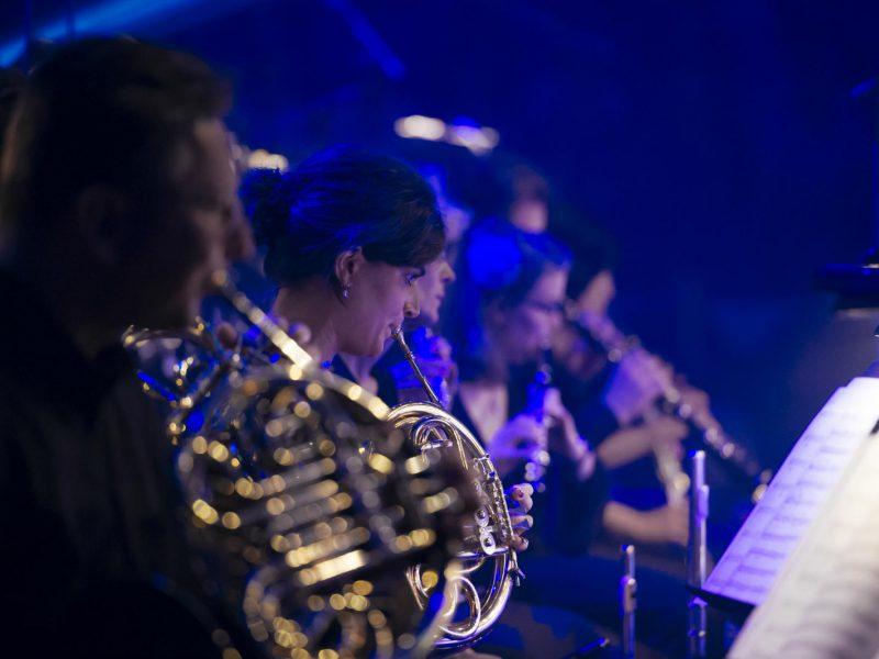 Sounds of Cinema 2016 Bläser mit Solohornistin Hanna Sieber (C) BR/Philipp Kimmelzwinger
