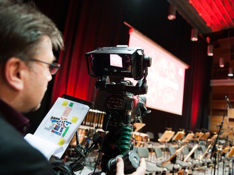 Frosch 2016, Vorbereitung für den Video-Livestream (C) Franziskus Büscher