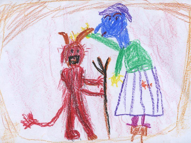 Der Teufel mit den drei goldenen Haaren (Bild von Madita, Freie Schule Glonntal)