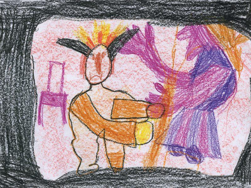 Der Teufel mit den drei goldenen Haaren (Bild von Marleen, Freie Schule Glonntal)