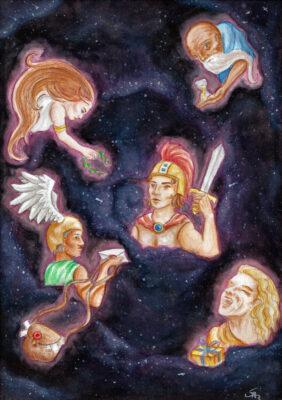 Die Planeten © Illustration von Sandrina Karl