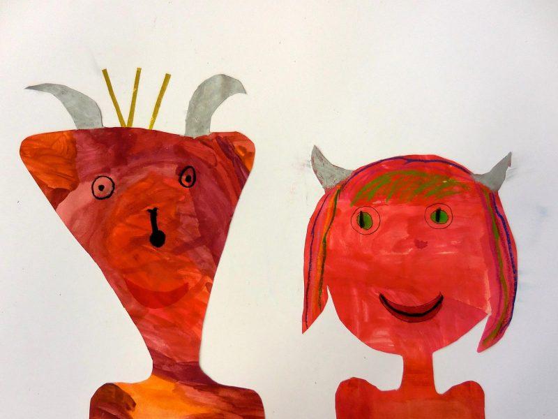 Der Teufel mit den drei goldenen Haaren (Bild von Maria und Nele, Grundschule Wolfersdorf)