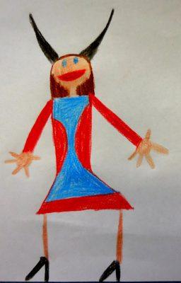 Der Teufel mit den drei goldenen Haaren (Bild von Theresa, Grundschule Wolfersdorf)