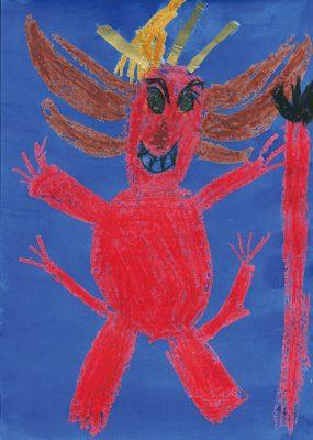Der Teufel mit den drei goldenen Haaren (Bild von Bela, GS an der Eversbuschstraße München)