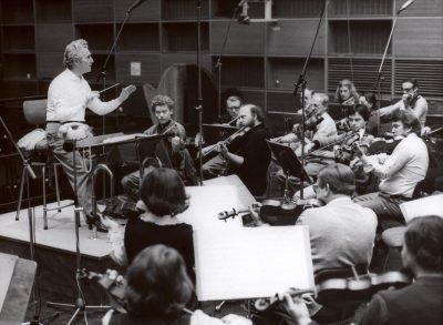 Lamberto Gardelli und das Münchner Rundfunkorchester (1980er Jahre) Credit BR / Hans Grimm