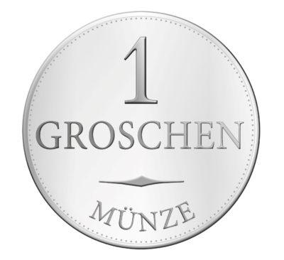 Münze, 1 Groschen (BR/Antonia Schwarz)