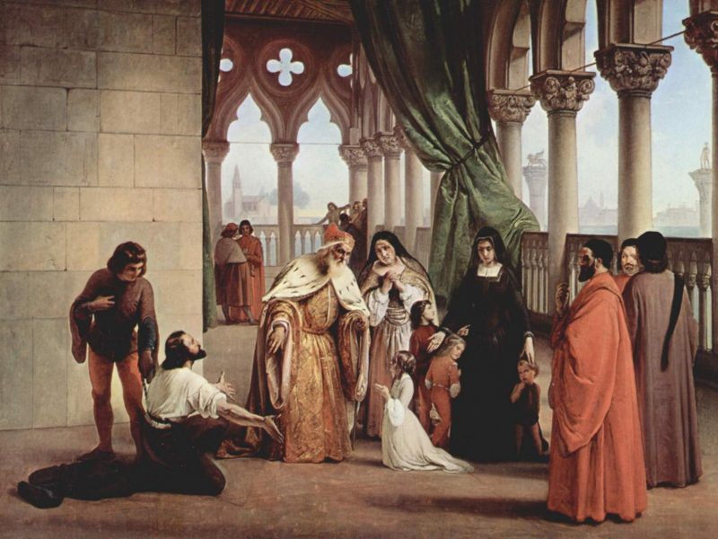 Francesco Hayez, Die zwei Foscari 1852-1854 (Wikimedia Commons Public Domain)