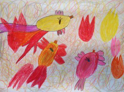 Julia Burkali (5 Jahre), Der Feuervogel