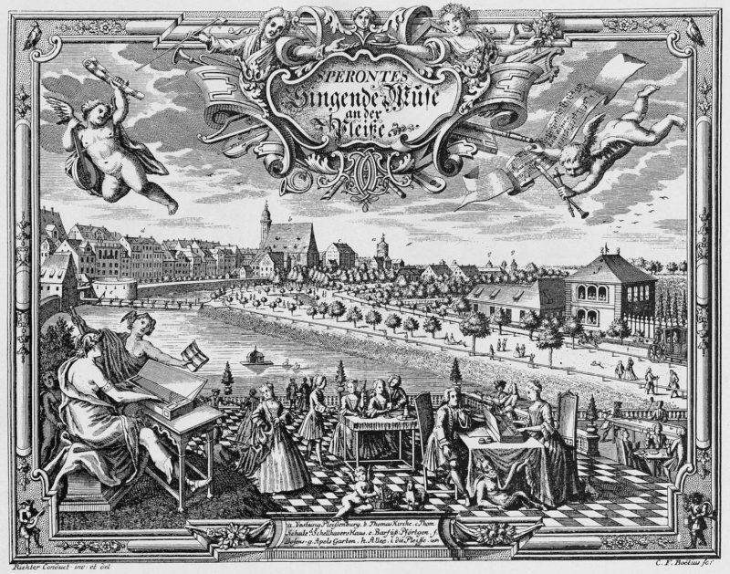 Leipzig 1736, Stich von Christian Friedrich Boetius © Wikimedia Commons