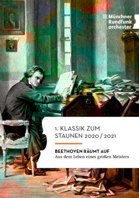 Titel Programmheft 1. Klassik zum Staunen 2020/2021 (Beethoven räumt auf)