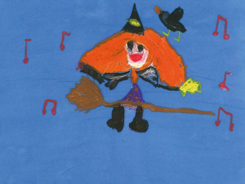 Malwettbewerb Die kleine Hexe von Anna 2.Klasse Anni-Pickert Grundschule Poing