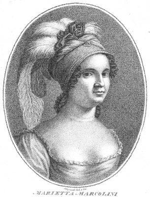 Maria Marcolini, die erste Interpretin des Sigismondo 1814 in Venedig (Sammlung Reto Müller)