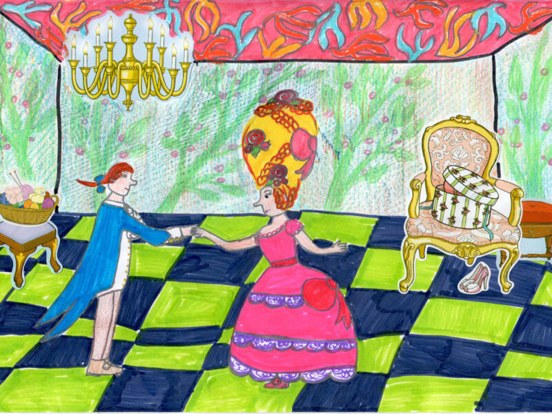 Menuett_Zeichnung von Kira, 10 Jahre