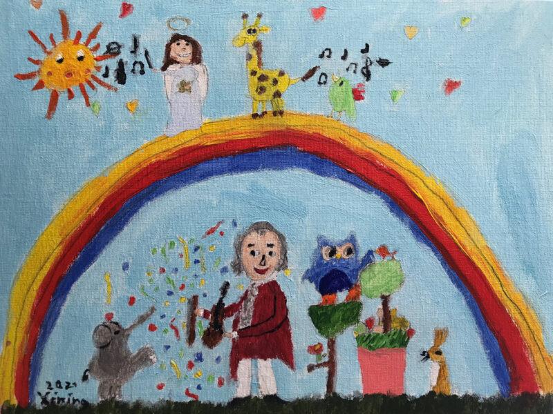Mozart-Bild auf Leinwand von Xining, 8 Jahre