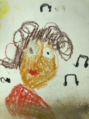 Mozart-Bild von Daba, 6 Jahre
