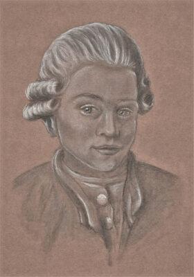Mozart-Zeichnung von Sandrina, 11. Klasse