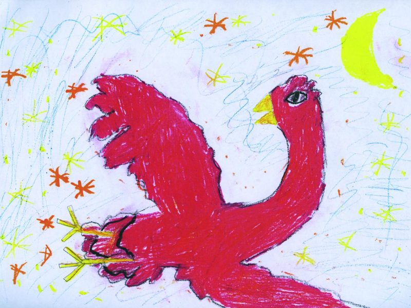 Der Feuervogel. Bild von Anna, Grundschule Alling