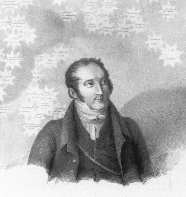 Rossini mit seiner musikalischen Landkarte (Archiv des BR)