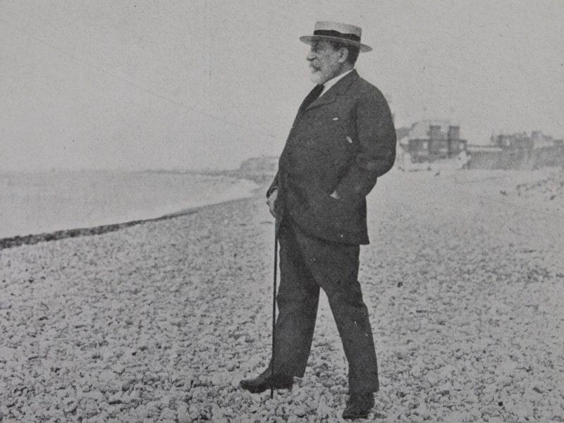 Camille Saint-Saens am Strand in Dieppe (Musica, Okt. 1909)