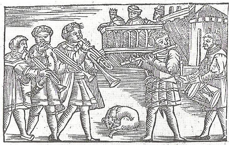 Stadtpfeifer, aus: Historia de gentibus septentrionalibus 1555 © Wikimedia Commons