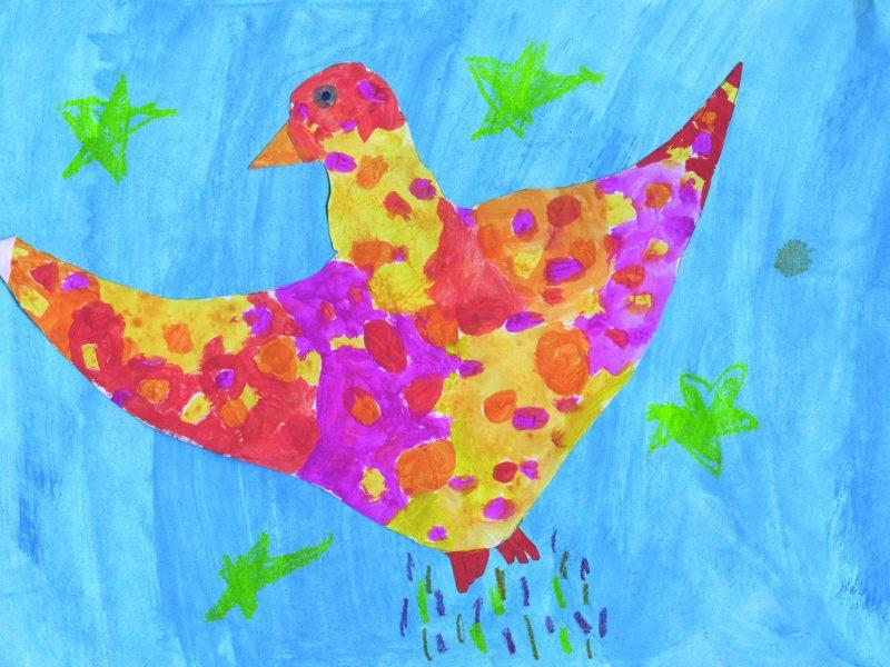 Der Feuervogel. Bild von Stella, Carl-Orff-Grundschule Erding