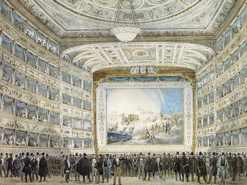 Teatro La Fenice in Venedig 1837 (Wikimedia Commons Public Domain)