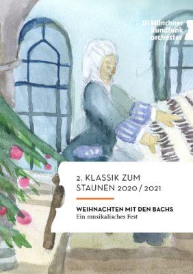 Titelbild Weihnachten mit den Bachs_Zeichnung von Dietrich aus Pegnitz