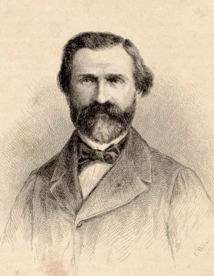 Giuseppe Verdi 1867 von Charles-Alphonse Deblois (Wikimedia Commons Public Domain)