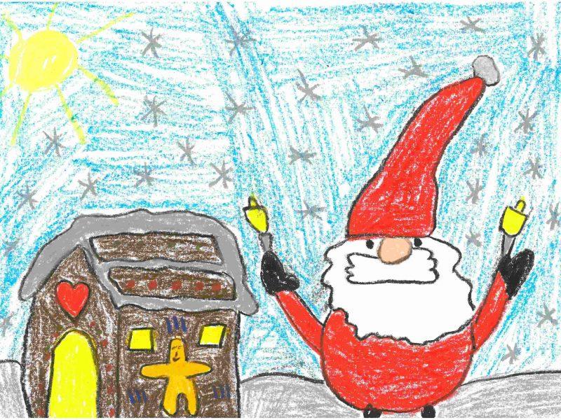 Weihnachtswichtel - Zeichnung von Ben Kranz