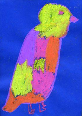 Der Feuervogel. Bild von Hannah, Grundschule an der St.-Konrad-Str., Haar