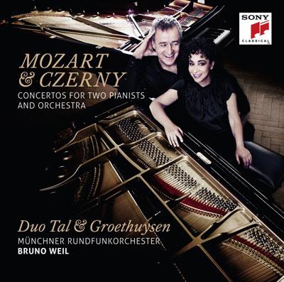 Mozart und Czerny: Konzerte für zwei Pianisten und Orchester